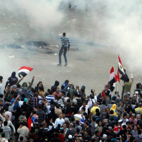 Video of recent protests in Egypt