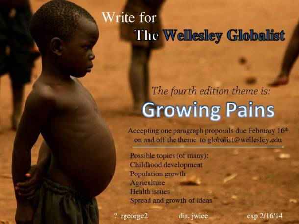 Growing Pains Wellesley Globalist