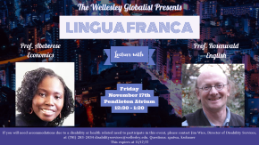 Lingua Franca Lecture: ThisFriday