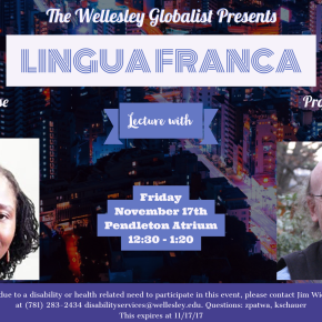 Lingua Franca Lecture: This Friday